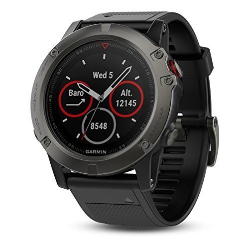 Garmin Fenix 5X Sapphire Slate Gray With Black Band, One Size by Garmin