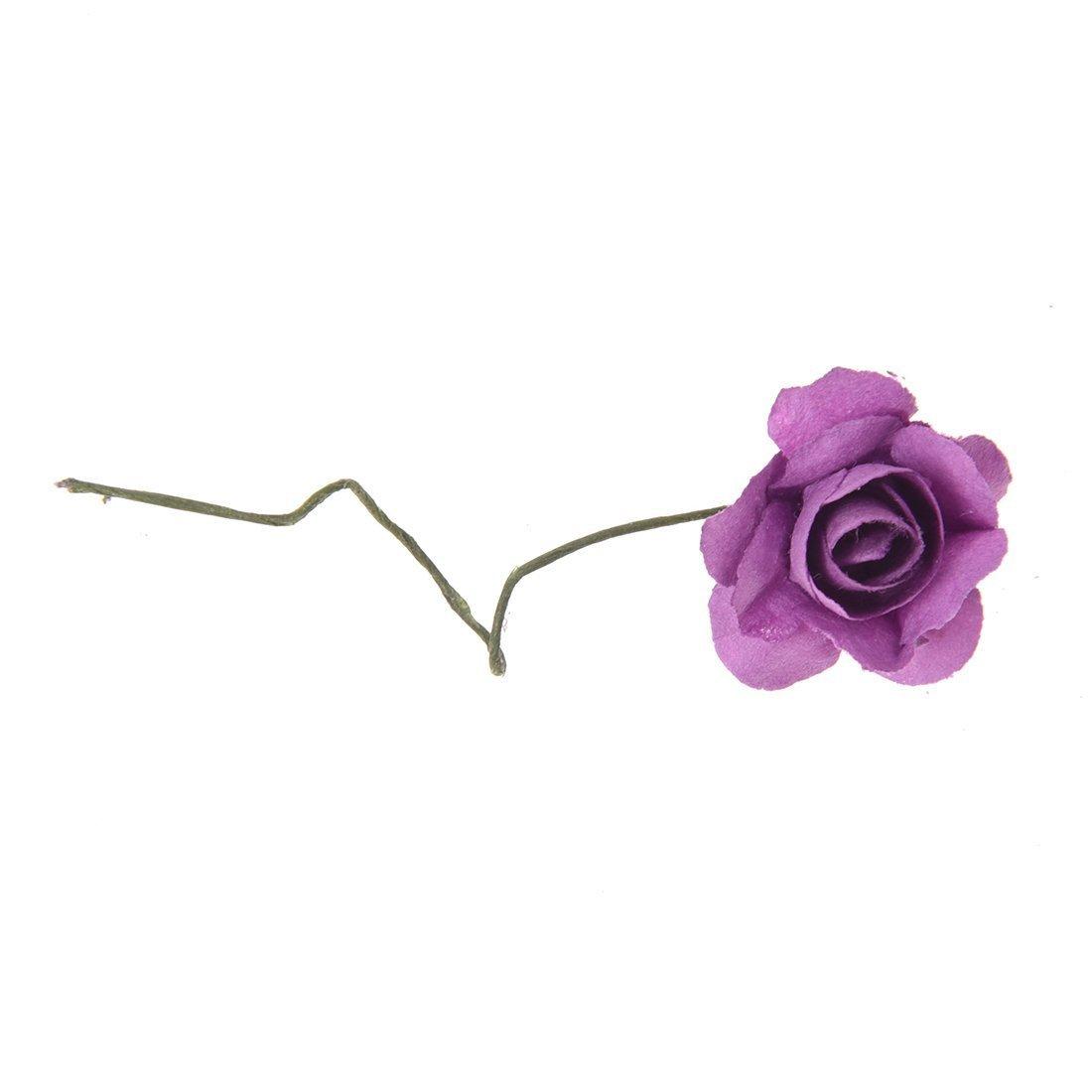 SODIAL (R) 144 pz Mini fiori carta rosa di nozze per bomboniera artigianale (viola) SODIAL(R) LEPAZN1160