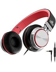 Auriculares Artix Plegables con Micrófono |Auriculares Estéreo NRGSound CL750 Compactos en la Oreja |Ideales para Niños/Adolescentes/Adultos
