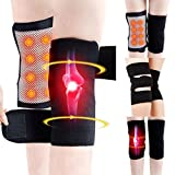 Kizaen Tourmaline Self-Heating Knee Braces,Acogedor Magnetic Therapy Knee Sleeve,Knee Support for Arthritis Pain Knee Massager 1 Pair - Black
