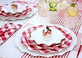 Sophistiplate 41Vtc2 Petalo Paper, Dinner Plates (20 Pack), Red Gingham