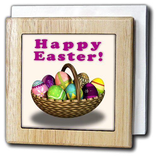 BoehmグラフィックスHoliday Easter – Easter Eggs Basket – タイルナプキンホルダー 6 inch tile napkin holder nh_43242_1 6 inch tile napkin holder  B007MALBZO