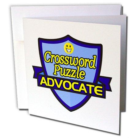 - Dooni Designs – Funny Sarcastic Advocate Designs - Crossword Puzzle Advocate Support Design - 12 Greeting Cards with envelopes (gc_242568_2)
