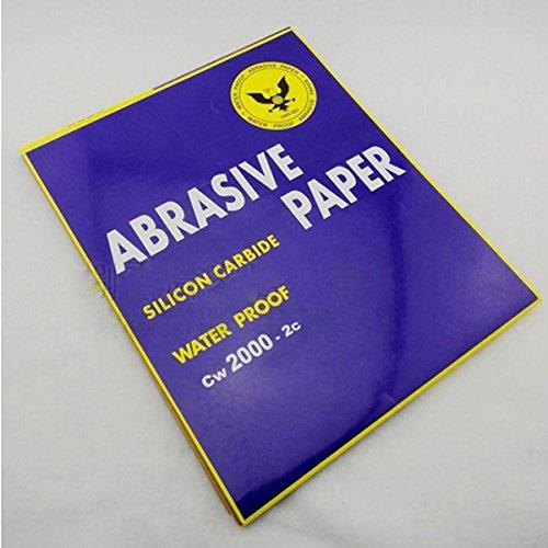 Letbo New Abrasive Paper Water Resistant Sandpaper Polish Sandpaper 2000 Granularity