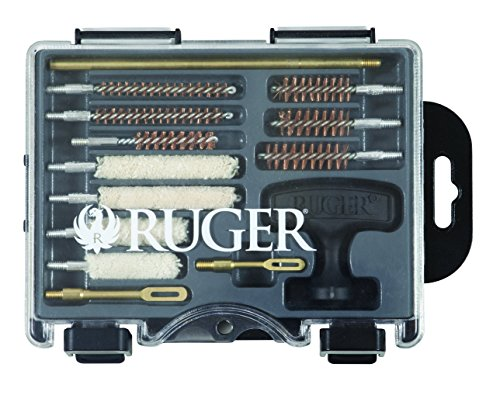Ruger 27821 Compact Handgun Cleaning Kit (Clear lid,15 piece Kit) by Allen Company