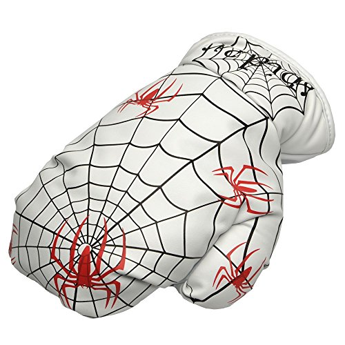 (COOLSKY Golf Fairway Wood Hybrids Club 1pc White PU Synthetic Leather Spider Web Boxing Glove Cover Thick Creative With Easy Lock-in Design Headcovers Fit For All Brands)