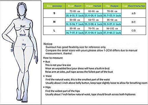 KUWOMINI.Europe Y Estados Unidos Bikini Cuidado De Acero Se Reúnen Traje De Baño De La Playa Para Señoras White