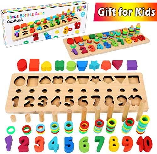 CozyBomB Wooden Sorting Montessori Toddlers product image