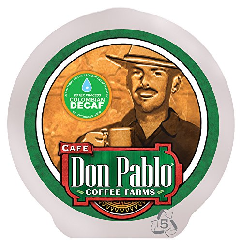 Cafe Don Pablo 84 Count K-Cups, Colombian Decaf Gourmet Coffee Medium - Dark Roast, Keurig Brewers 2.0 Compatible K-cup 84 ct