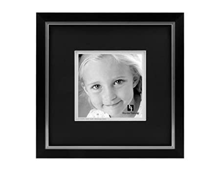 Bordertrends Legacy 10x106x6 Inch Photo Frame Black With Black Mat