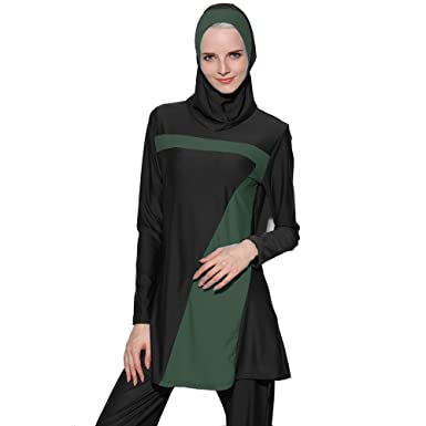 746caf90f4adf extra large size S-6XL Sunscreen muslim costume swimwear High elasticity islamic  hijab modest full