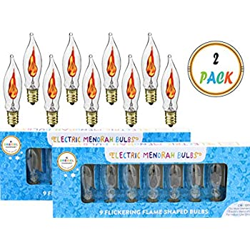 Amazon Com Flickering Flame Shaped Bulbs Hanukkah Menorah
