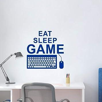 zxddzl Eat Sleep Game Gaming Quote Tatuajes De Pared Teclado De La Pc Controlador del Ratón Gamer Playroom Boy Dormitorio Decoración 41 * 42 Cm: Amazon.es: ...