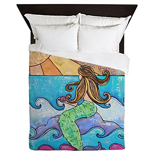 CafePress-Colorful-Mermaid-At-Sunset-Beach-Queen-Duvet-Cover-Printed-Comforter-Cover-Unique-Bedding-Luxe