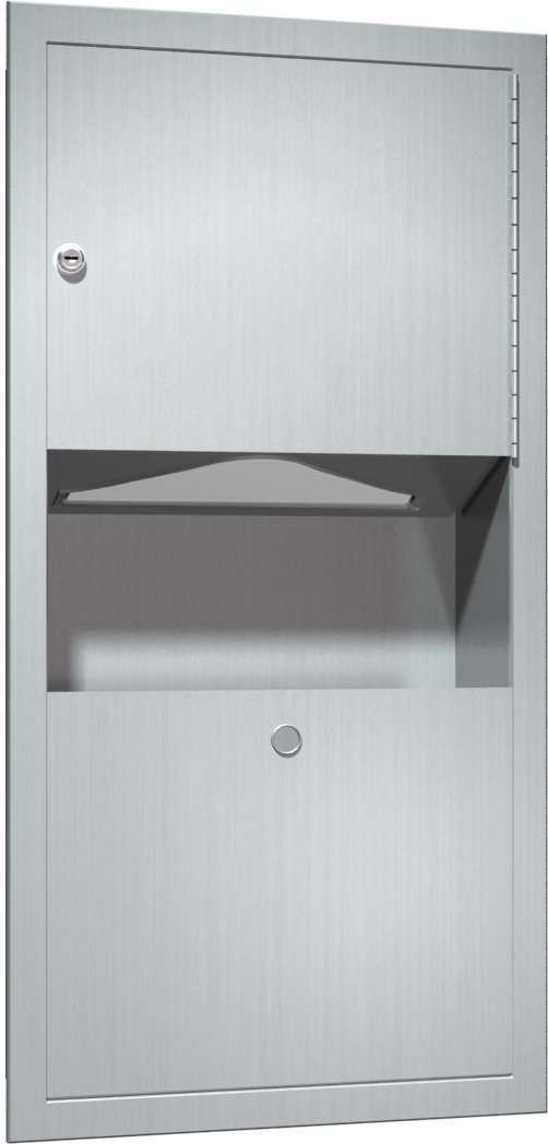 ASI 0462-AD Paper Towel Dispenser and Waste Receptacle by ASI