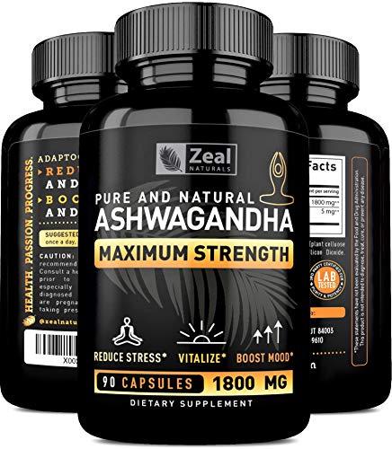 Organic Ashwagandha Capsules Adrenal Support product image