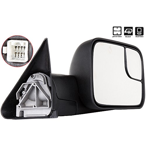 Scitoo Dodge Towing Mirrors Passenger Side Rear View Mirrors for 2002-2008 Dodge Ram 1500 2500 3500 with Power Control Heated Manual Telescoping and Manual Folding Feature by Scitoo