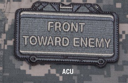 Milspec Monkey Front Toward Enemy Patch ACU DARK