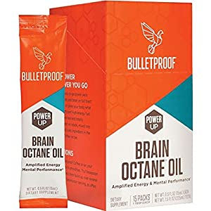 Bulletproof Brain Octane oil GoPacks, Reliable and Quick Source of Energy in a Convenient Travel Size (15 Packets)