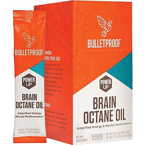 (Bulletproof Brain Octane Oil Go Packs, Travel Friendly Packets, Keto Diet Friendly Source of C8 Energy, More Than Just MCT (15 Count))