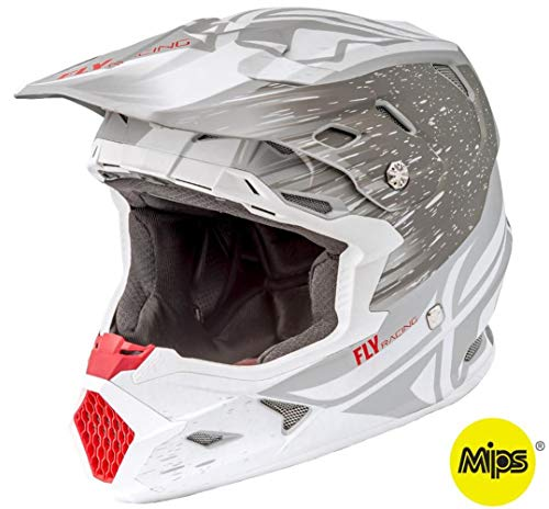 Fly Racing 2018 Toxin Helmet with MIPS - Resin (Large) (Matte White/Grey)
