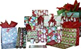 The Gift Wrap Company Santa's Whimsical Friends Wrap, Gift Bag and Ribbon Assortment, 16-Count