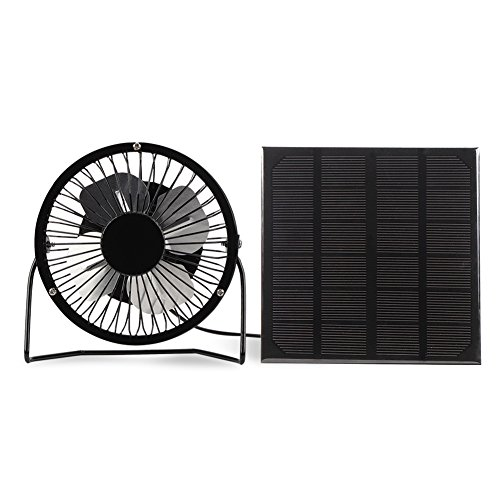 Yosooo 3W USB Solar Panel Powered Mini Portable Fan for Cooling Ventilation Outdoor Home Travelling Chicken House Car Ventilation System 4 Inch by Yosooo (Image #9)