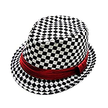 6071a3dffd8 WXBUY Chic Jazz Toddler Kids Baby Boy Girl Cap Cool Photography Fedora Hat  A Color  A