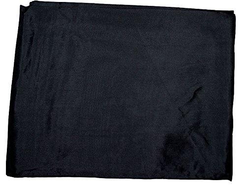 Wyoming Traders Mens Solid Silk Wild Rag Scarf Black