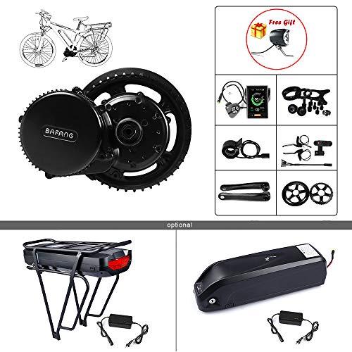 BAFANG BBSHD 48V 1000W Electric Bike Mid Drive Motor DIY Ebike Parts Ebike Conversion Kit (Shark Battery 48V 17.5Ah+ Chainring Wheel T42+Display 500C)