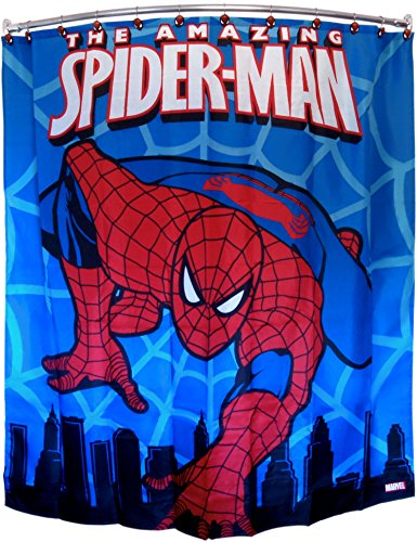 Marvel Spiderman Polyester 70 x 72 Inch Shower Curtain