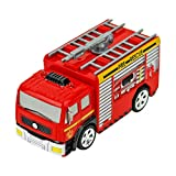 ERLOU Educational Toy Children Cute Remote Control Car RC Rescue Fire Engine Truck Red Toy for Kids Boys Girls Gifts (red)