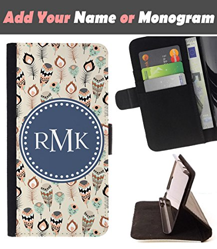[ Customize Your Case ][ APPLE IPHONE 7 ] Personalized Monogram Name Leather Wallet Flip Cover - Vintage Indian - Models Indian And Pictures Names