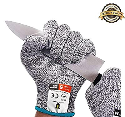 Walk Rhino Cut Resistant Gloves - Knife Glove Level 5 Protection - FDA Food Grade High Performance - Safety Kitchen Mitts