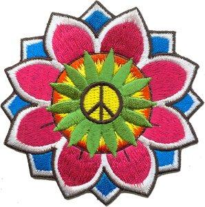 Amazon peace sign lotus flower hippie iron on applique patch p3459 peace sign lotus flower hippie iron on applique patch p3459 mightylinksfo