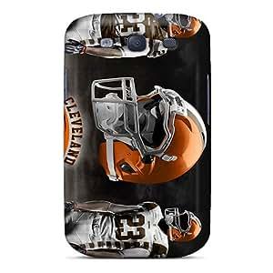 AlissaDubois Samsung Galaxy S3 Anti-Scratch Hard Cell-phone Case Unique Design Trendy Cleveland Browns Image [Uff6811SrhB]