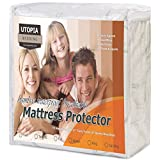 Waterproof Bamboo Mattress Protector - Hypoallergenic fitted Mattress Cover - Breathable Cool Flow Technology - (King) - by Utopia Bedding