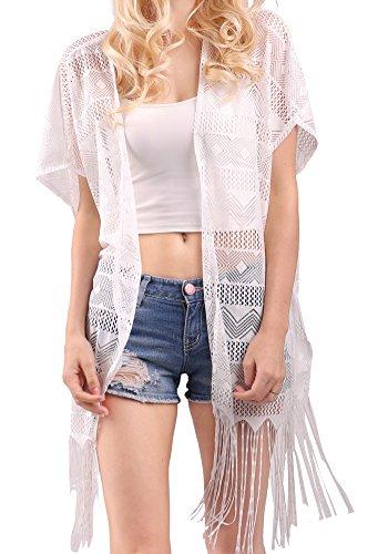 MissShorthair Fashion Crochet Cardigan Tassels