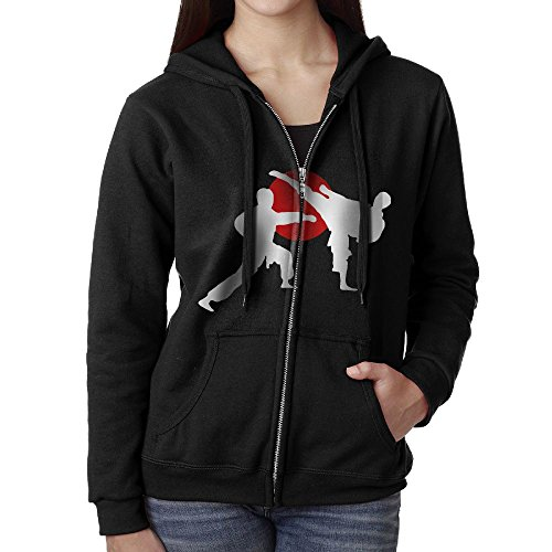 Full Contact Fighter T-shirt - Women's Full Zip-Up Sweatshirt Two Karate Fighter Casual Pullover Fleece Hoodie Jackets