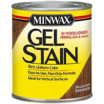 Minwax 260804444 Interior Wood Gel Stain, 1/2 pint,  Brazilian Rosewood