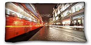 Custom City Custom Cotton & Polyester Soft Rectangle Pillow Case Cover 20x36 inches (One Side) suitable for California King-bed