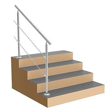 Barandilla de escalera de acero inoxidable.: Amazon.es ...