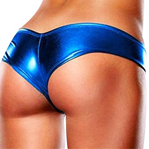 Puissant Womens Patent Leather Sexy Briefs Bikini Jockstraps