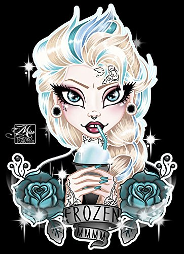 (Elsa by Miss Cherry Martini Frozen Punk Princess Tattoo Framed Wall Art)