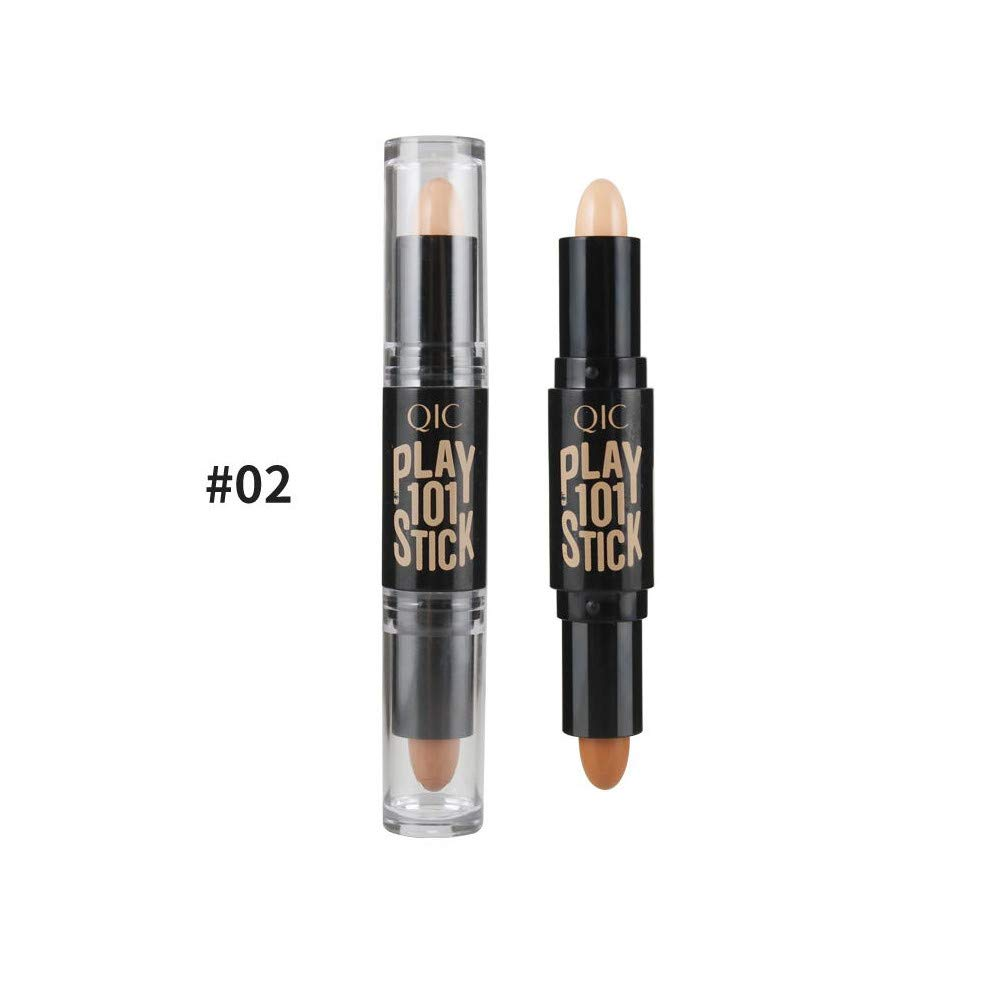 Ultra Concealer Foundation Double Head 2 Colors Cosmetic Pen Highlight Concealer Pen (2#)