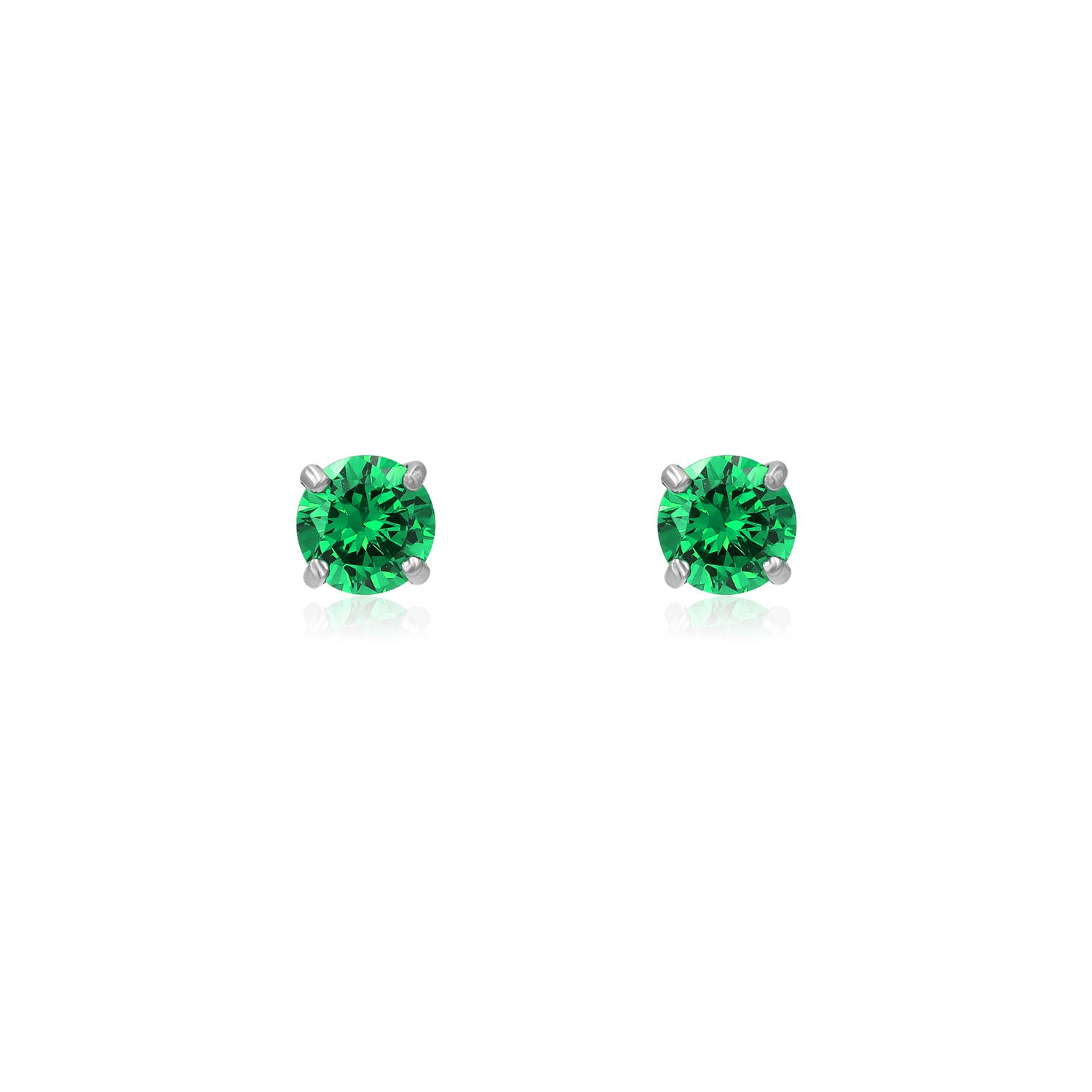 River Island Jewelry Multi Color Cubic Zirconia 6 mm Round Stud Earrings