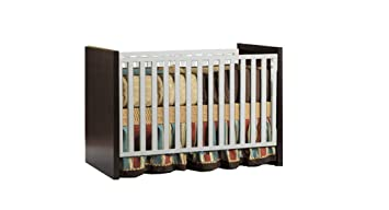 pali milano fixed sides crib with toddler rail by