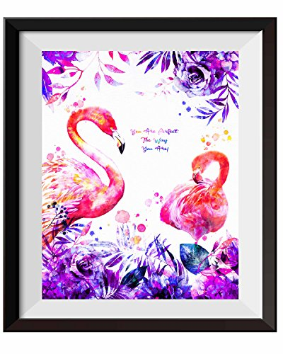 Uhomate Hawaiian Pink Flamingos The Flamingos Home Canvas