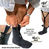 Hold-Ups Stirrup Style Holdup Shirt Stays with Patented Gripper Clasps