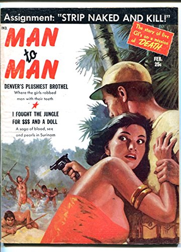 MAN TO MAN-FEB 1959-GUNFIGHTS-CHEESECAKE-NEW ORLEANS-TORTURE-vg (New Cheesecake)